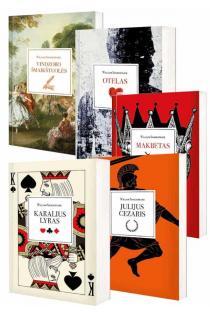 KOMPLEKTAS. Viljamas ŠEKSPYRAS. DRAMOS. Karalius Lyras + Julijus Cezaris + Makbetas + Otelas + Vindzoro šmaikštuolės | Viljamas Šekspyras (William Shakespeare)