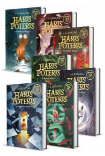 KOMPLEKTAS. Visos HARIO POTERIO serijos knygos (7 knygos) | J. K. Rowling