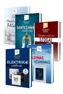 Namų statybos knygų KOMPLEKTAS (5 knygos): Elektriko vadovas + Šildymas. Vėdinimas. Oro kondicionavimas + Statybų vadovas. Stogai + Santechniko vadovas + Statybų vadovas. Fasadai |