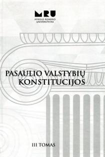 Pasaulio valstybių konstitucijos, III tomas |