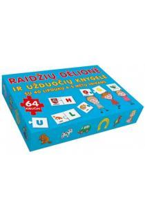 Raidžių dėlionė ir užduočių knygelė su 40 lipdukų 4–5 metų vaikams |