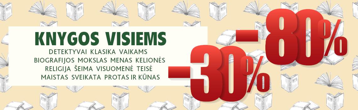 Detektyvai, klasika, romanai ir kitos knygos 30-80% pigiau