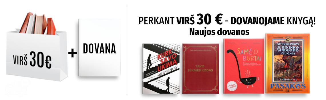 Perkant virš 30 eurų - DOVANOJAME knygą!