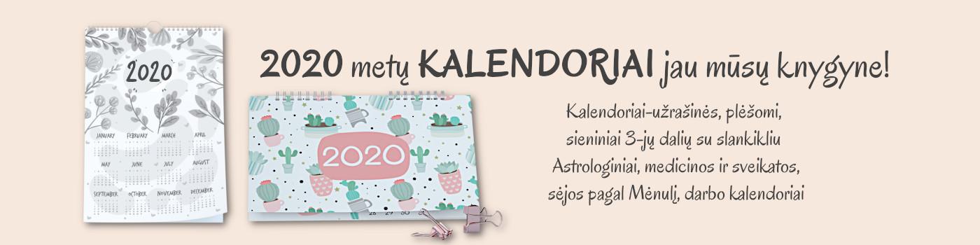 2020 kalendoriai