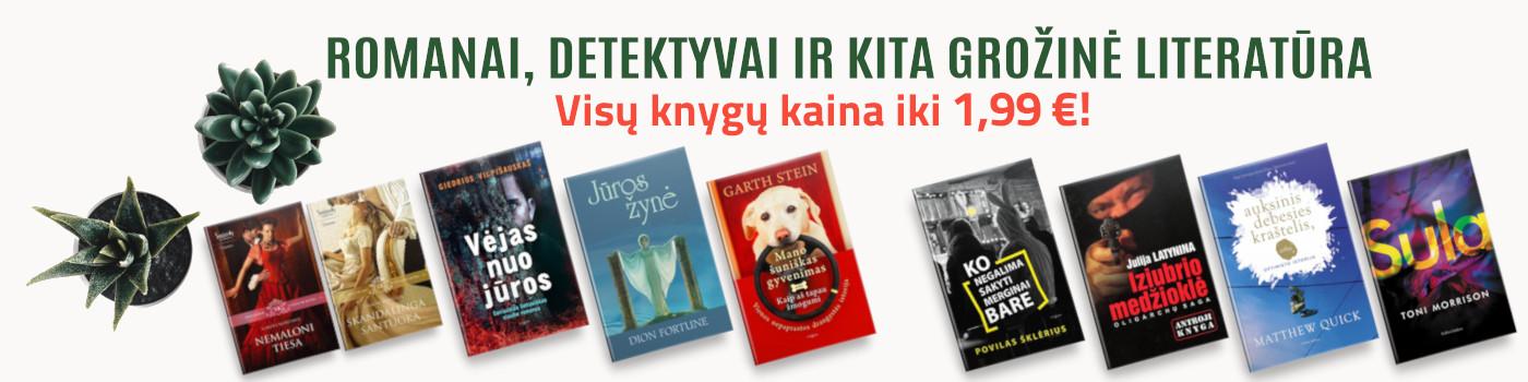 Romanai, detektyvai ir kita grožinė literatūra iki 1,99 €