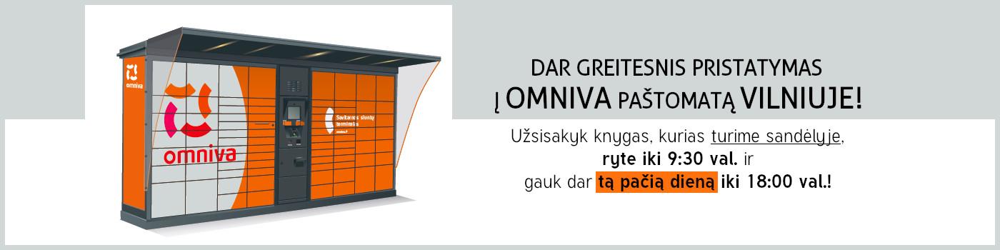 Dar greitesnis pristatymas į Omniva paštomatą Vilniuje