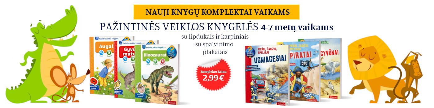 Pažintinės veiklos knygelės - KOMPLEKTAI